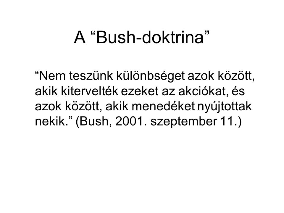 A Bush-doktrina