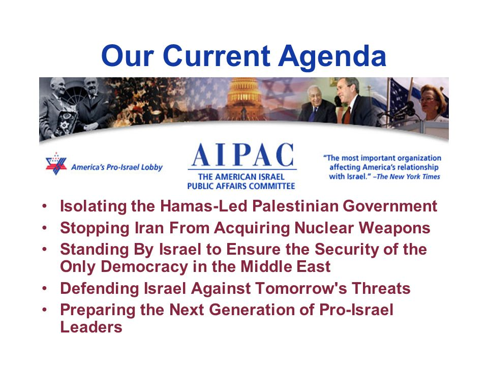 Our Current Agenda Isolating the Hamas-Led Palestinian Government