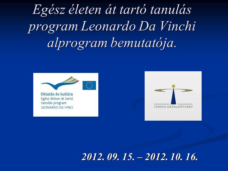 Egész életen át tartó tanulás program Leonardo Da Vinchi alprogram bemutatója.
