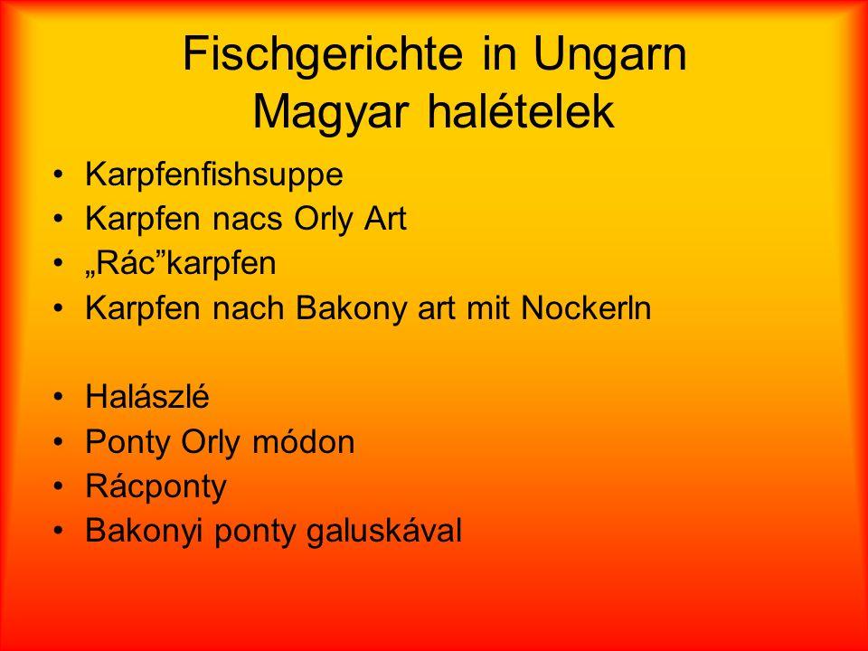 Fischgerichte in Ungarn Magyar halételek