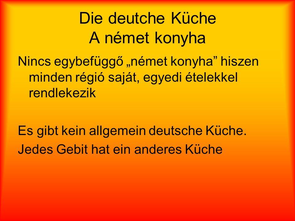 Die deutche Küche A német konyha