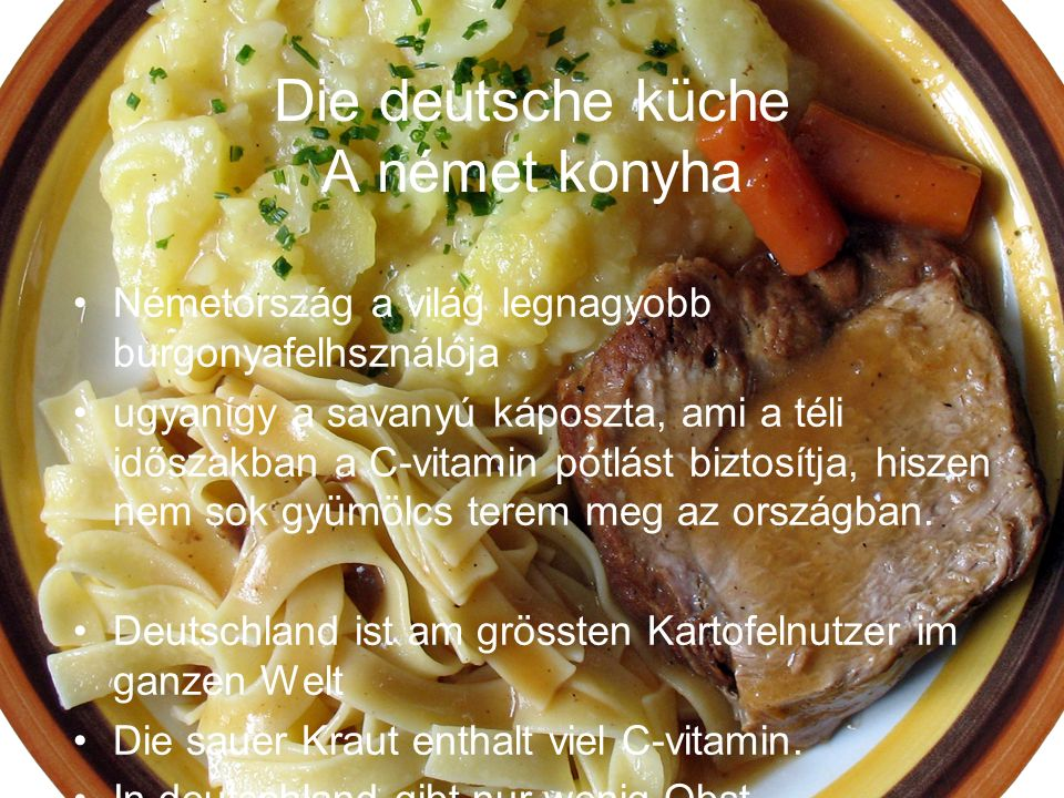 Die deutsche küche A német konyha
