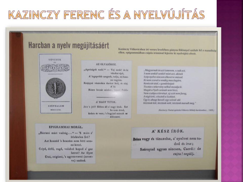 Kazinczy Ferenc és a nyelvújítás