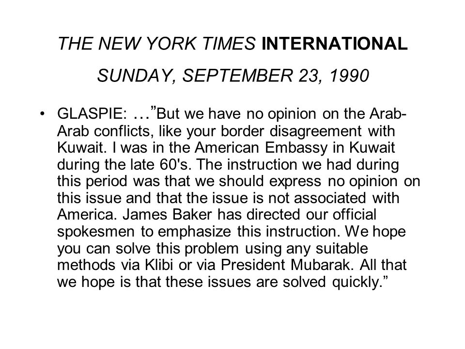 THE NEW YORK TIMES INTERNATIONAL SUNDAY, SEPTEMBER 23, 1990