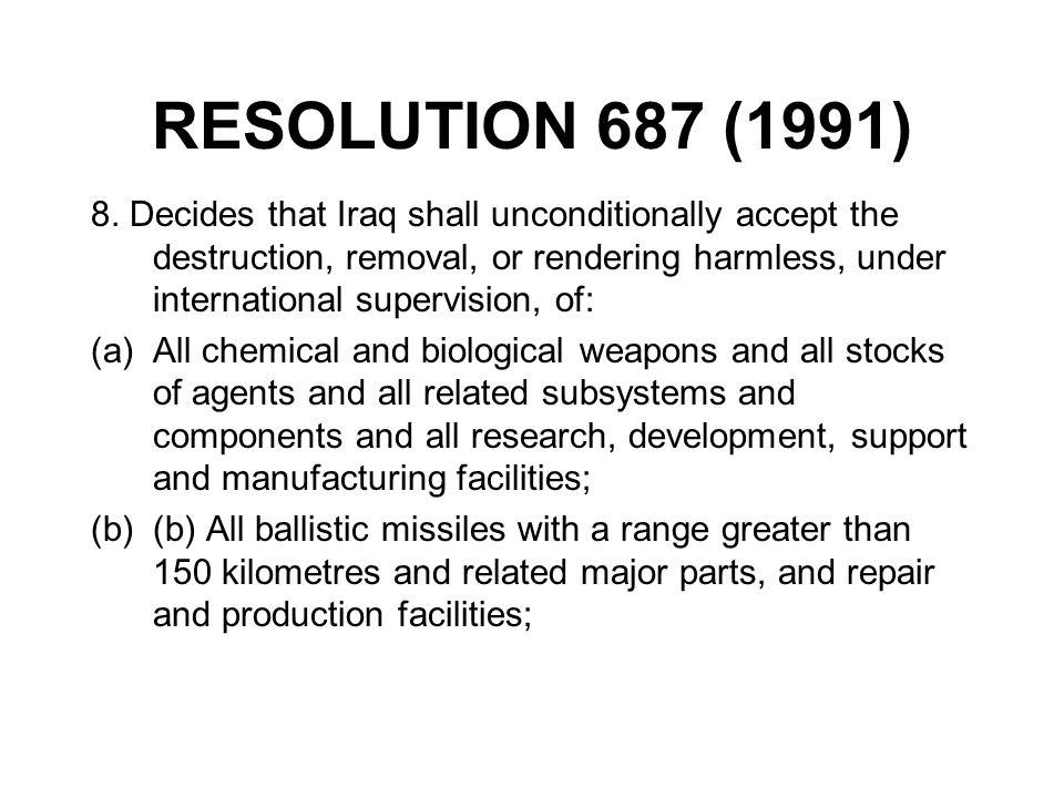 RESOLUTION 687 (1991)