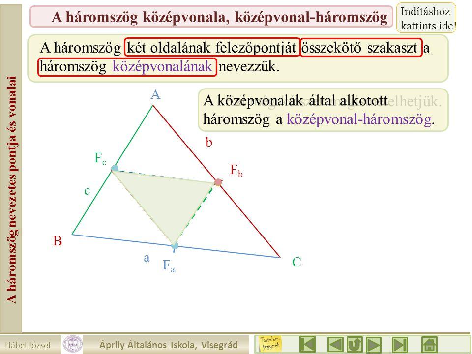 A háromszög nevezetes pontja és vonalai