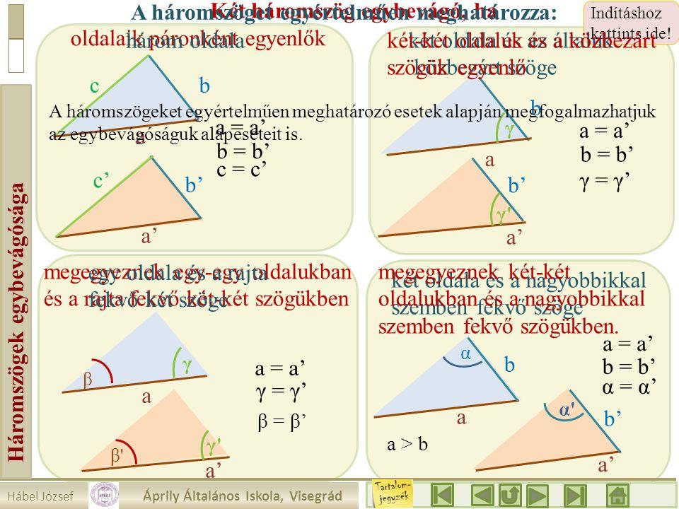 Háromszögek egybevágósága