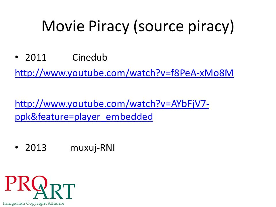 Movie Piracy (source piracy)