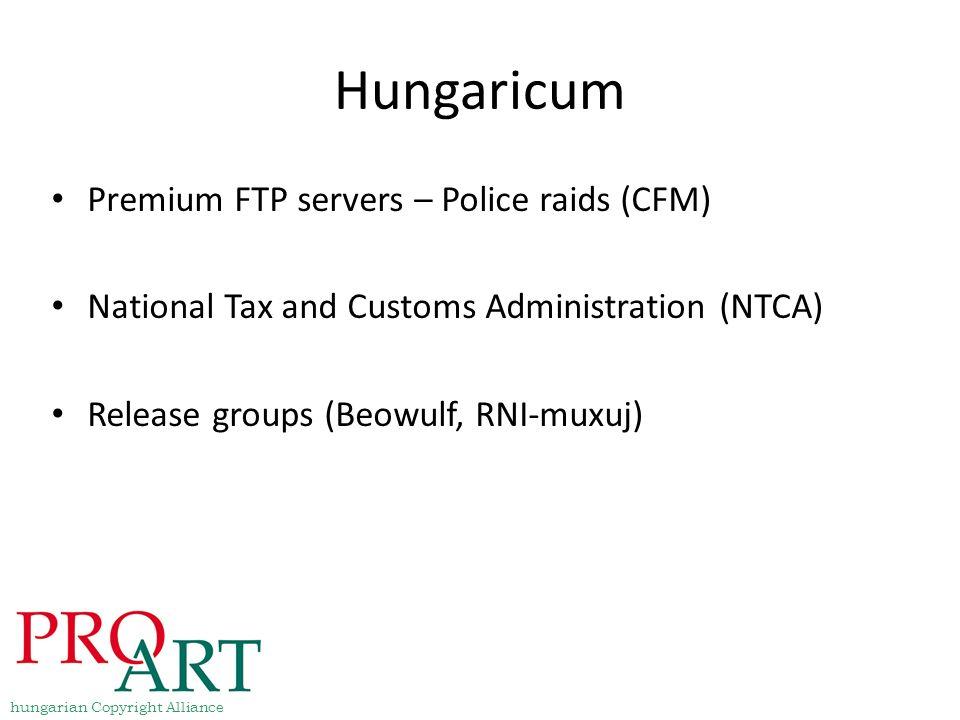 Hungaricum Premium FTP servers – Police raids (CFM)