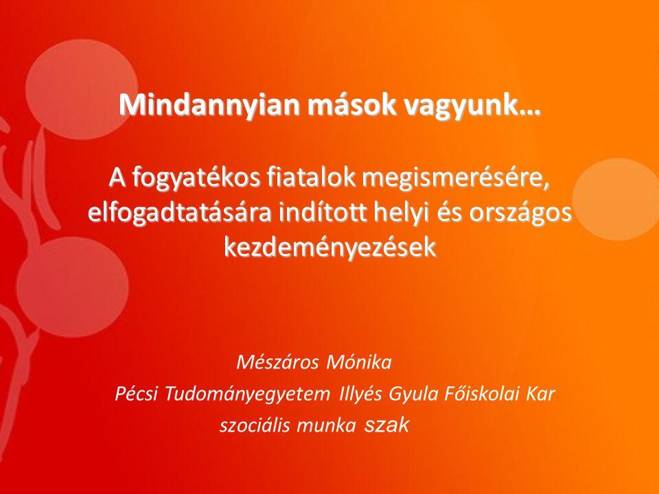 fogyatékos emberek megismerésére)
