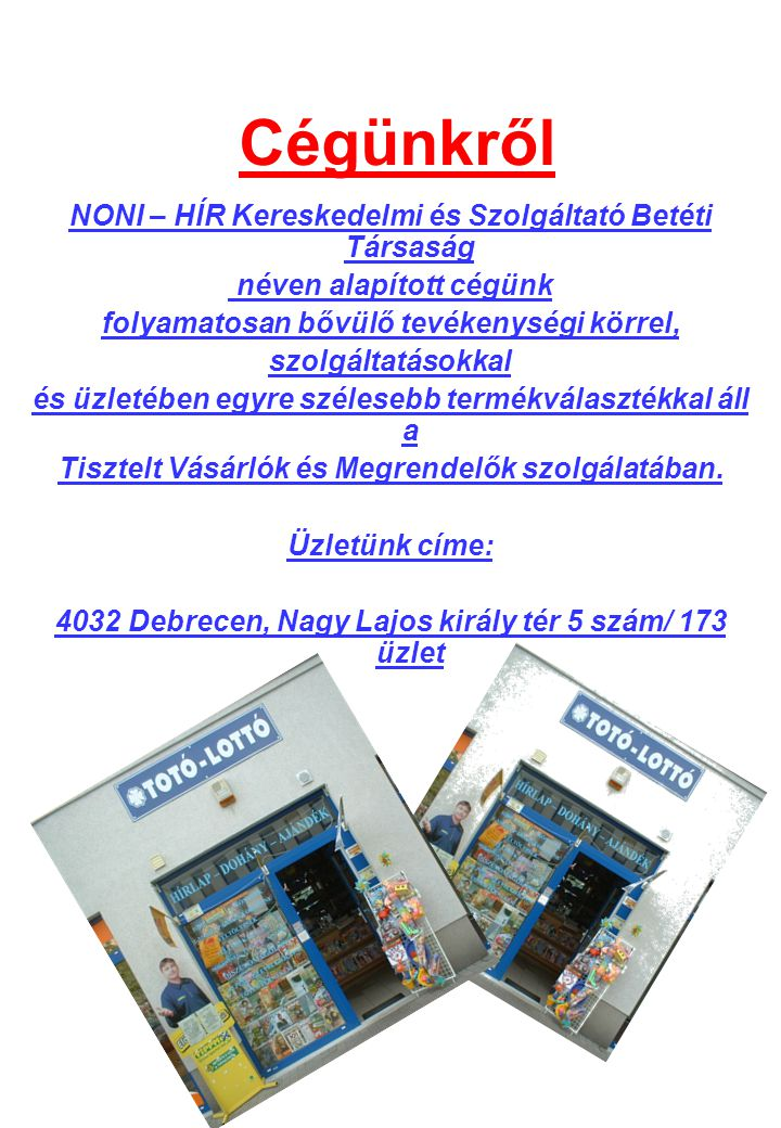 hírkereskedelmi világ)
