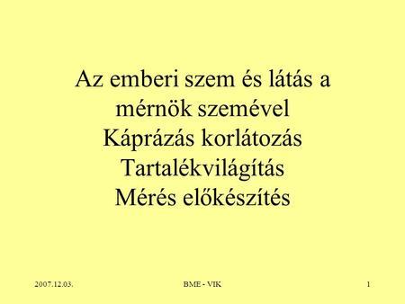 emberi látás és megvilágítás)