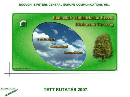 TETT KUTATÁS 2007. NOGUCHI & PETERS CENTRAL-EUROPE COMMUNICATIONS INC.
