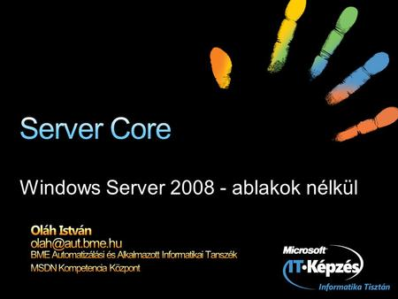 Windows Server ablakok nélkül