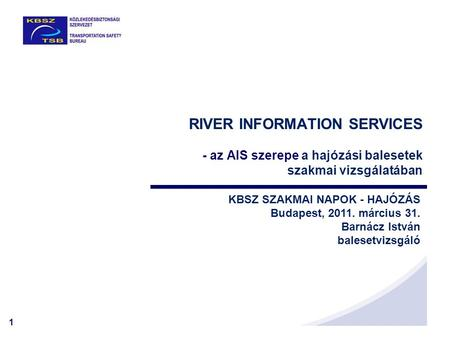 RIVER INFORMATION SERVICES