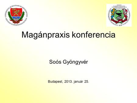 Magánpraxis konferencia