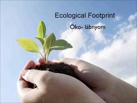 Ecological Footprint Öko- lábnyom. What does ecological footprint refer to? The amount of productive land appropriated on average by each person (in the.
