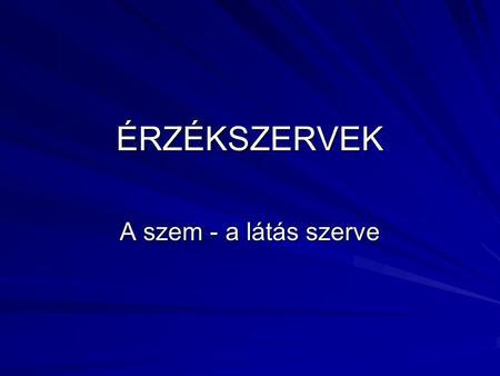 szem és látás ppt)
