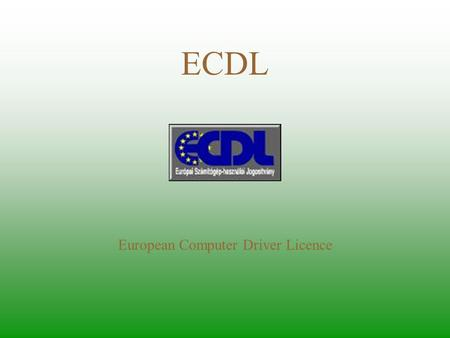 European Computer Driver Licence