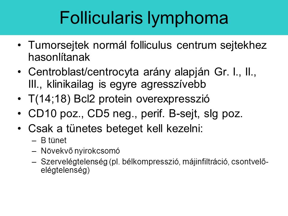 Follicularis lymphoma