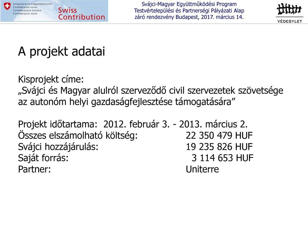 8bc42b9043 Svájci-Magyar Együttműködési Program Testvértelepülési és ...