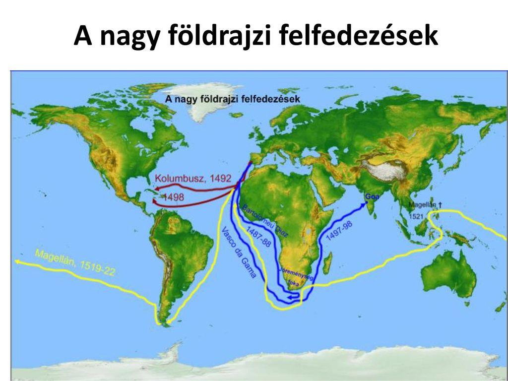 amerika felfedezése térkép Az Európán kívüli világ felfedezések gyarmatosítás   ppt letölteni amerika felfedezése térkép