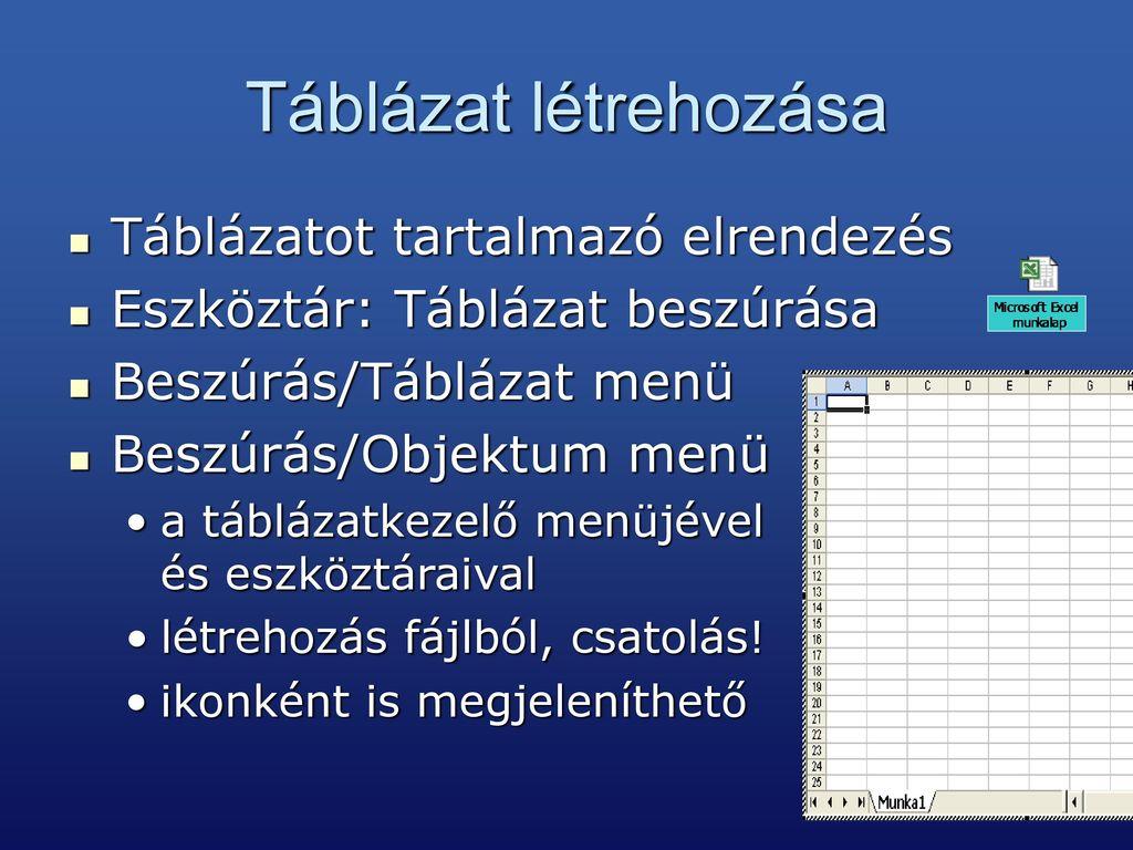kör táblázat nézet táblázat