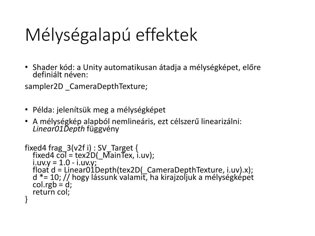 Post Processing effektek - ppt letölteni