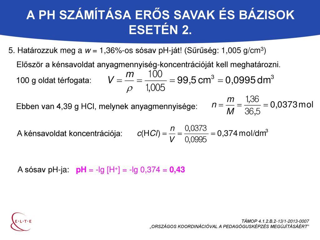 Sósav ph számítás