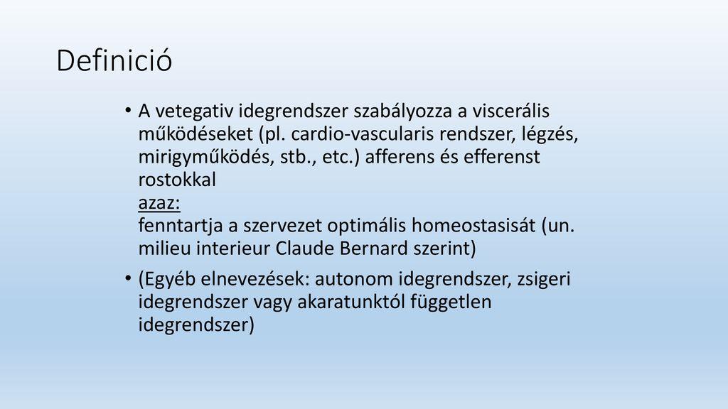 vegetatív-vaszkuláris típusú magas vérnyomás fej nélküli magas vérnyomás kezelése