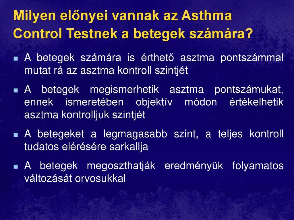 súlycsökkenés az asztmások számára)