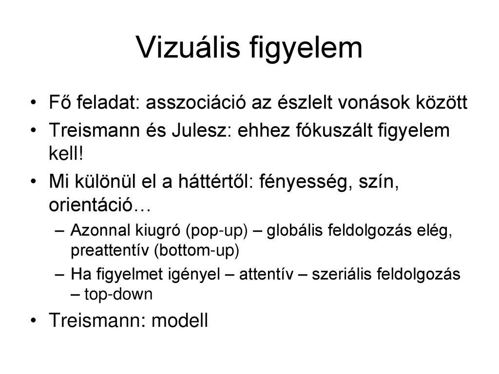 a látás alapvető vizuális funkciói