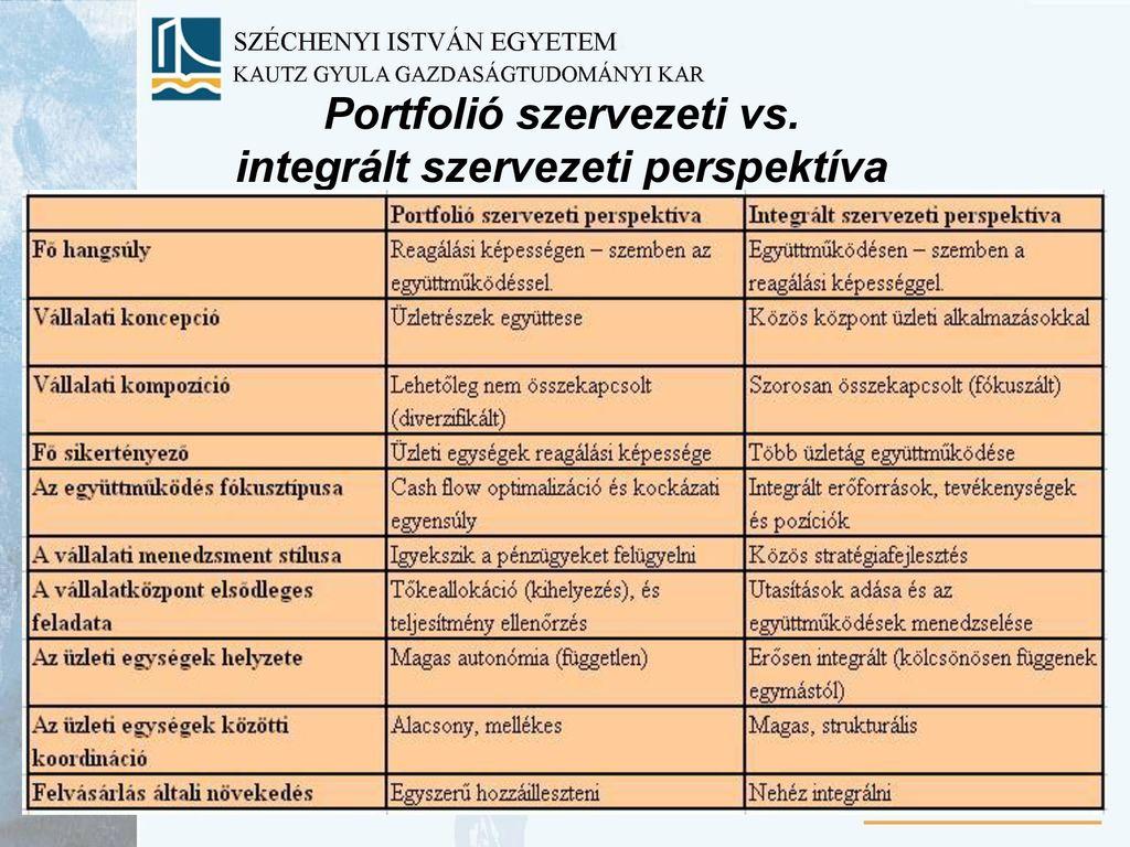 diverzifikációs perspektíva