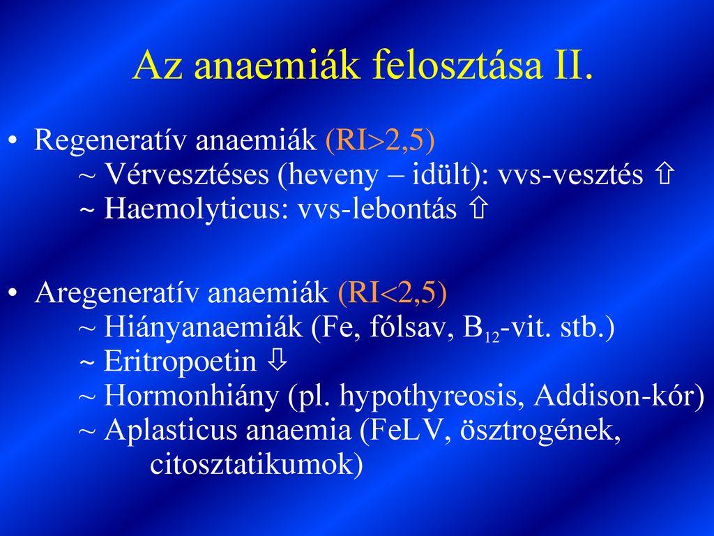 regeneratív vérszegénység)