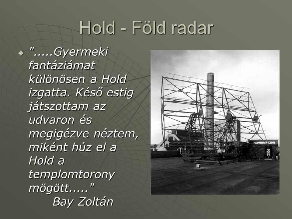 Hold - Föld radar