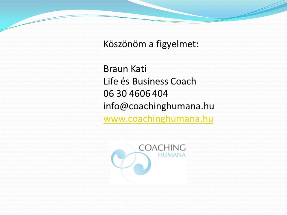 Braun Kati Life és Business Coach