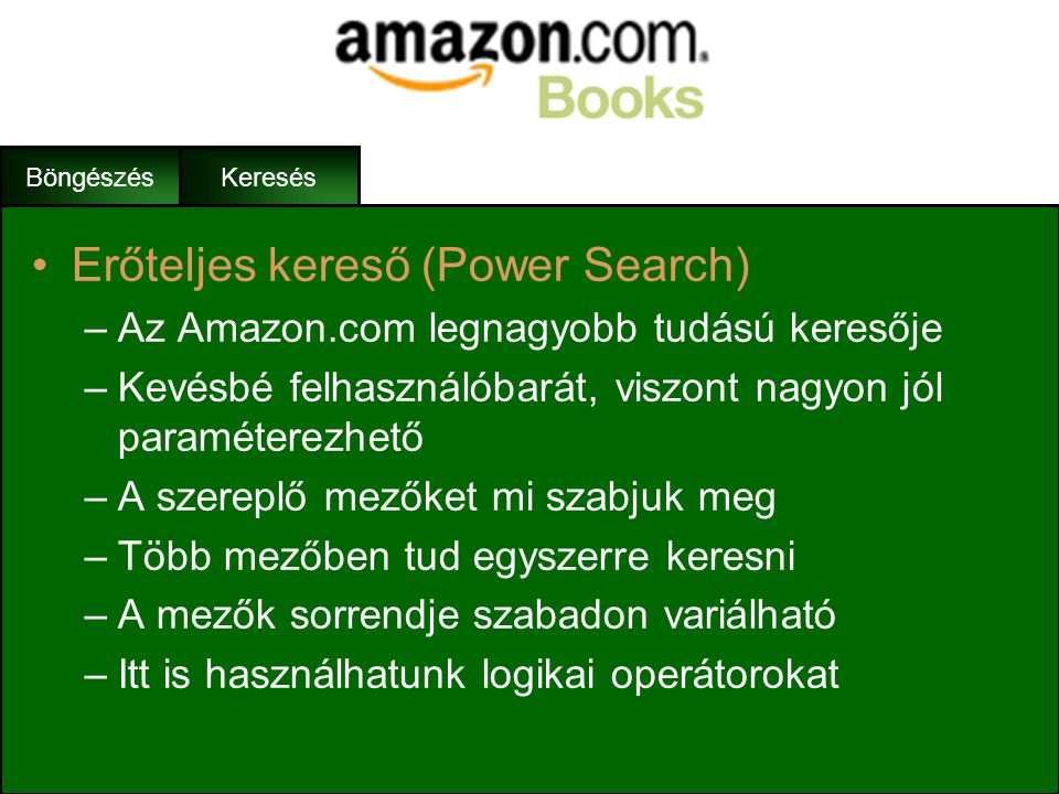Erőteljes kereső (Power Search)