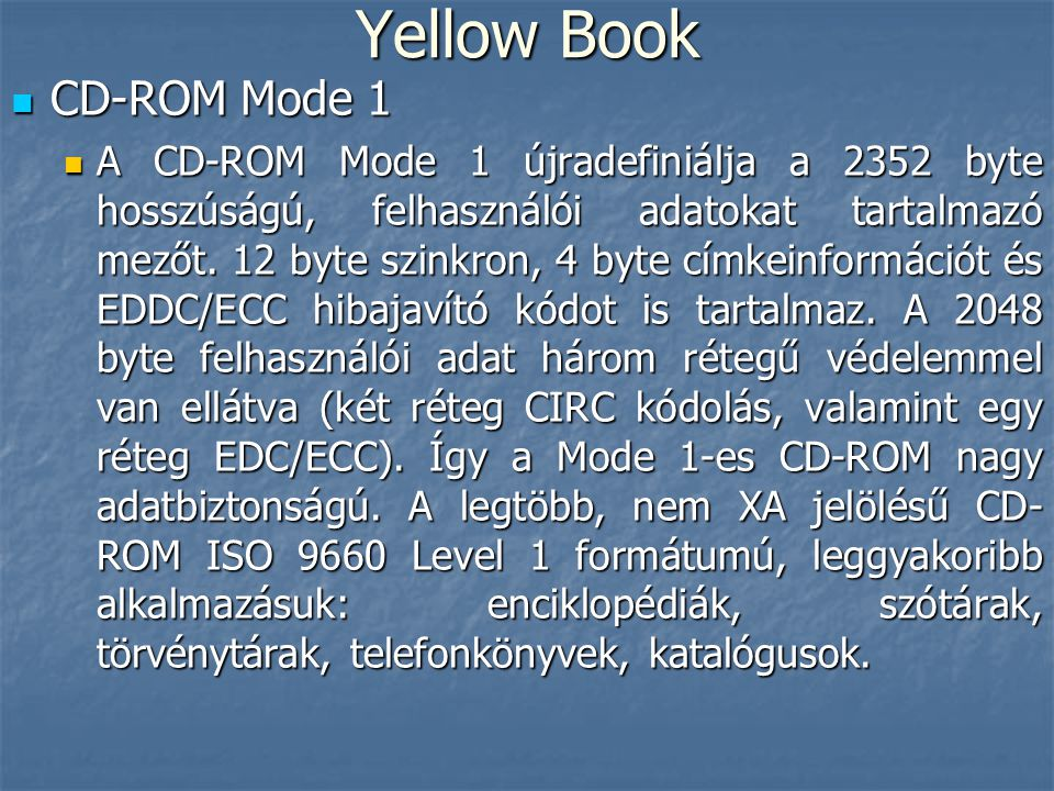 Yellow Book CD-ROM Mode 1