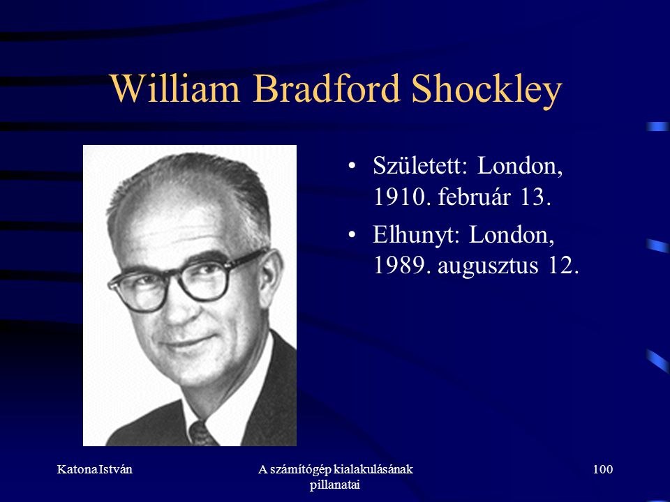 William Bradford Shockley