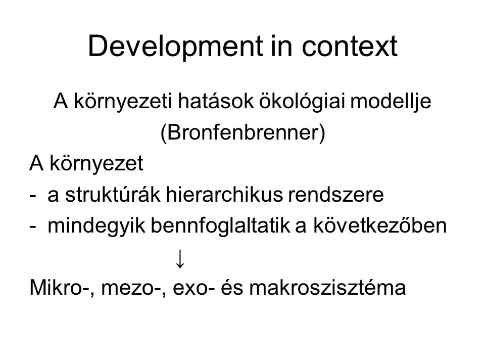 Development in context