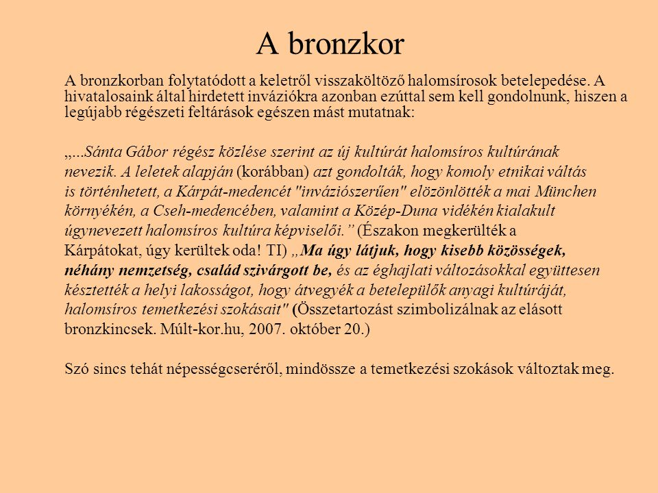 A bronzkor