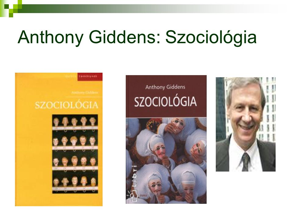 Anthony Giddens: Szociológia