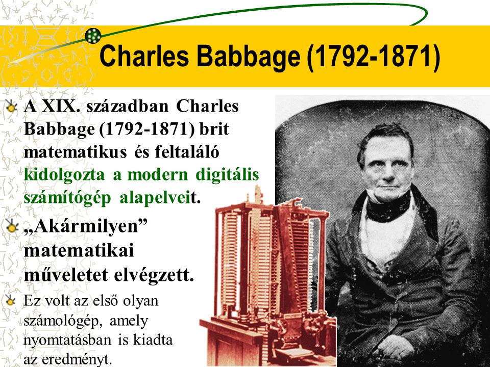 Charles Babbage ( )