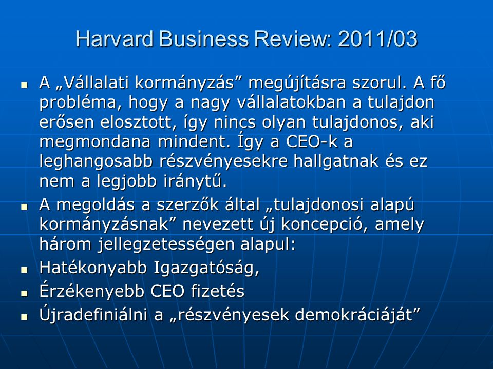 Harvard Business Review: 2011/03