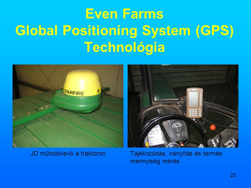 Even Farms Global Positioning System (GPS) Technológia