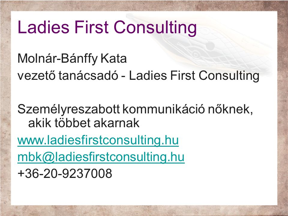 Ladies First Consulting