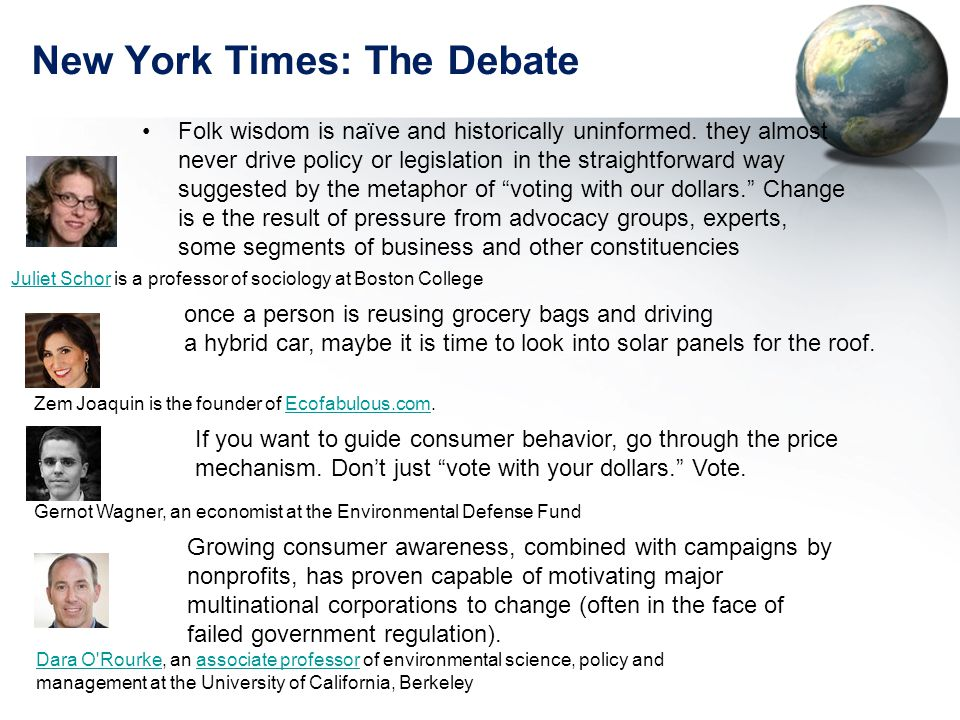 New York Times: The Debate