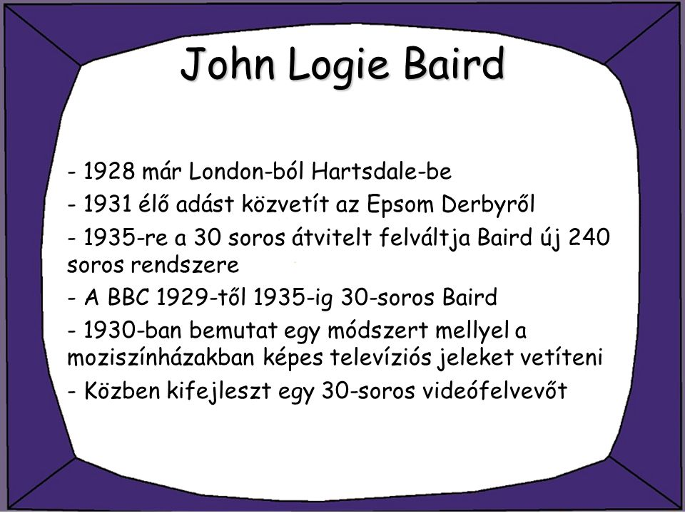 John Logie Baird - 1928 már London-ból Hartsdale-be