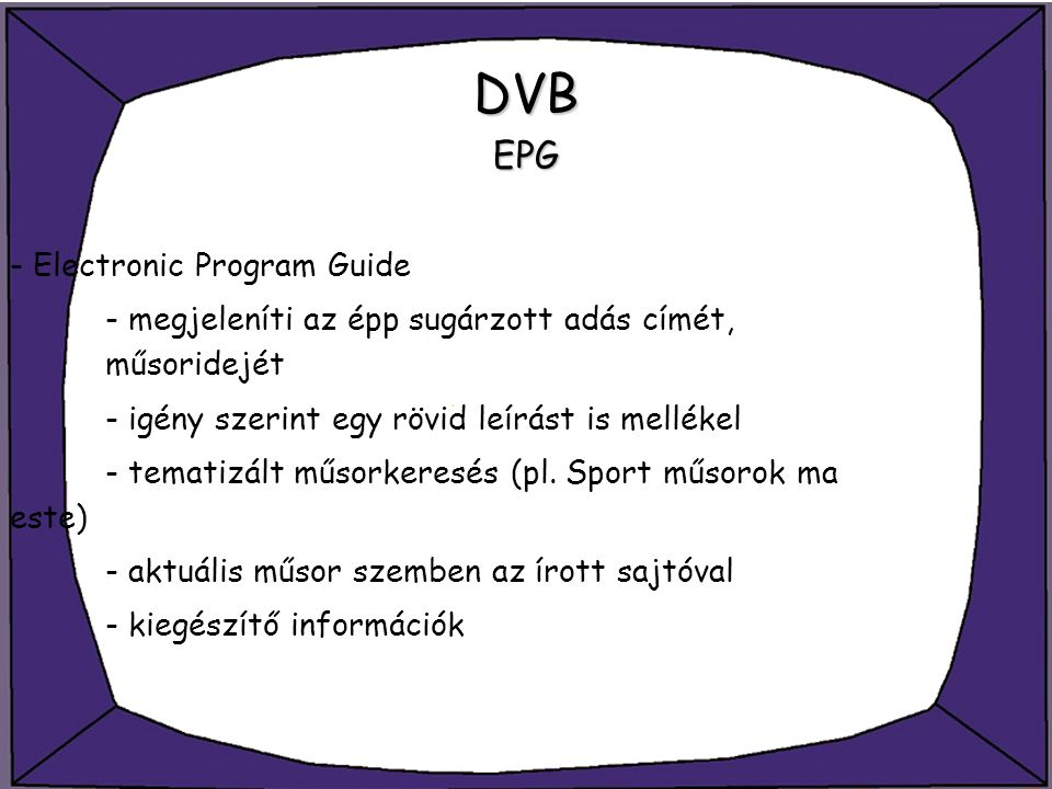 DVB EPG - Electronic Program Guide