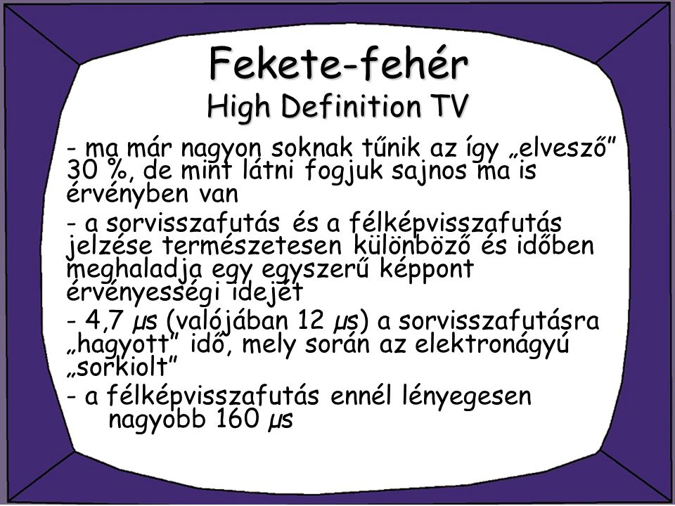 Fekete-fehér High Definition TV